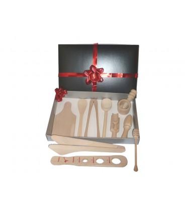 Assortiments table id es cadeaux ustensiles de cuisine en bois cuill res et spatules en bois - Ustensiles de cuisine en bois ...